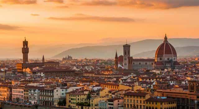 Panorama Firenze; Tramonto